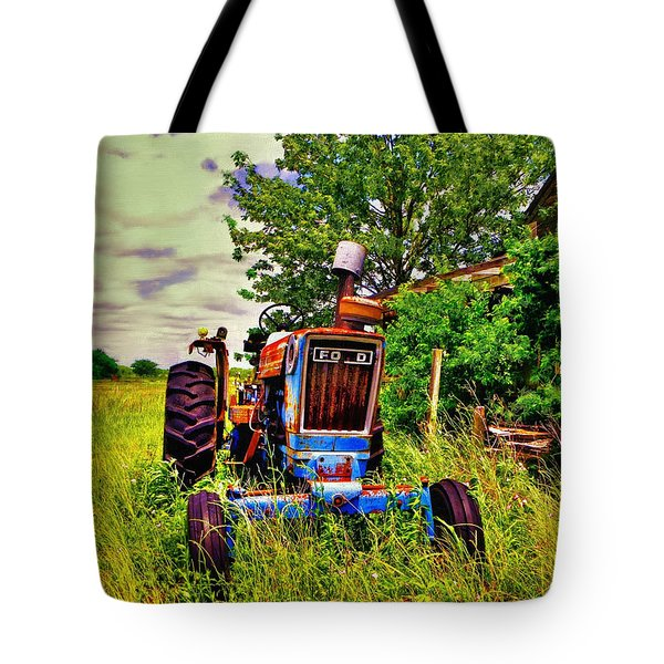 Old Ford Tractor Tote Bag by Savannah Gibbs