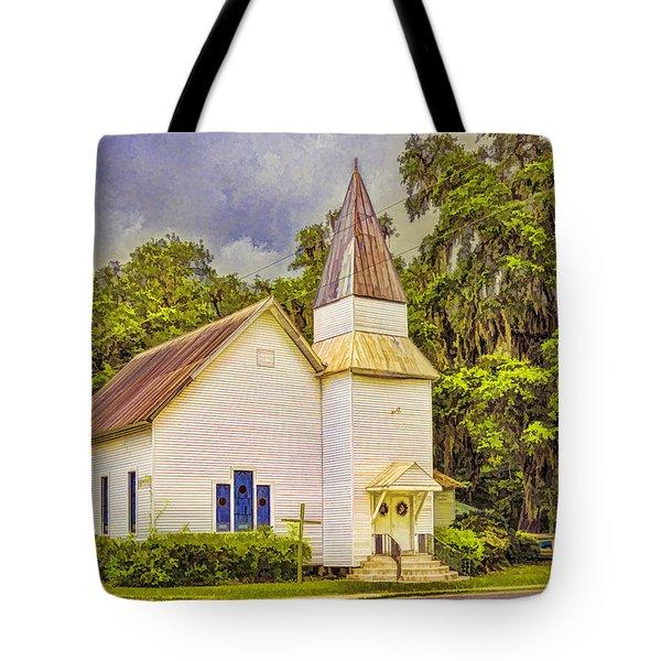 Old Rural Church Tote Bag