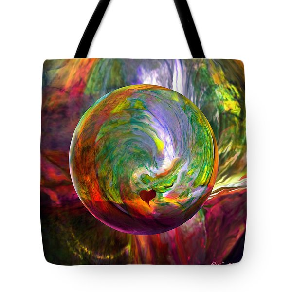 Orbing A Sea Of Love Tote Bag
