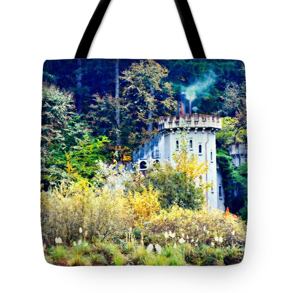 Oregon Castle In Fall Tote Bag
