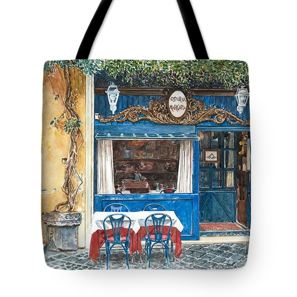 Osteria Margutta Rome Italy Tote Bag by Anthony Butera