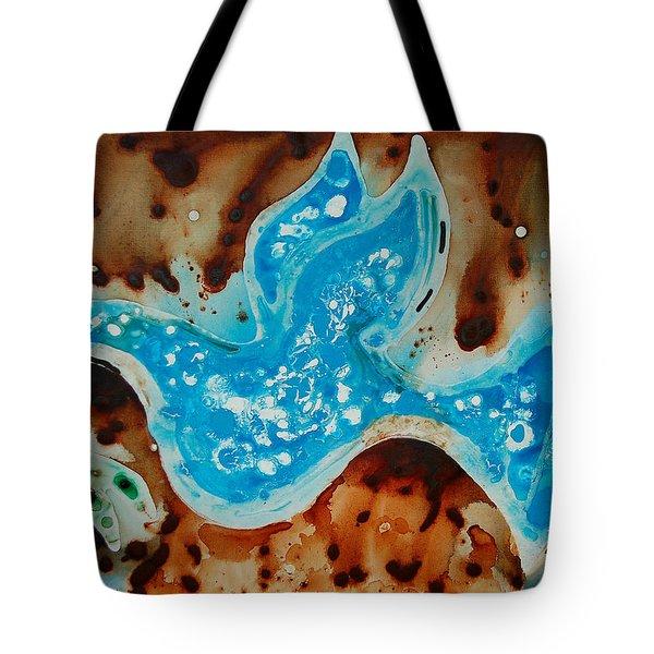 Peace Dove - Art By Sharon Cummings Tote Bag by Sharon Cummings