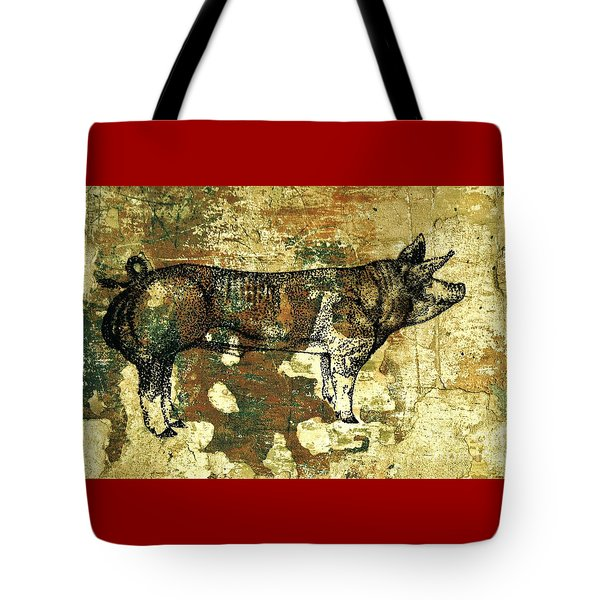 German Pietrain Boar 27 Tote Bag
