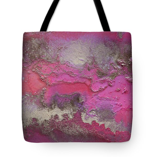Pink And Gold Abstract Painting Tote Bag
