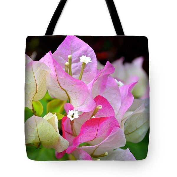 Pink  Bougainvillea ...with A Friend Tote Bag by Lehua Pekelo-Stearns