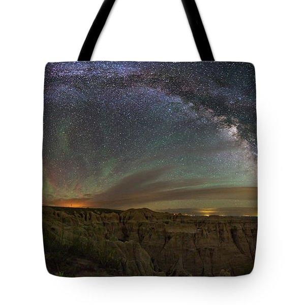 Pinnacles Overlook At Night Tote Bag