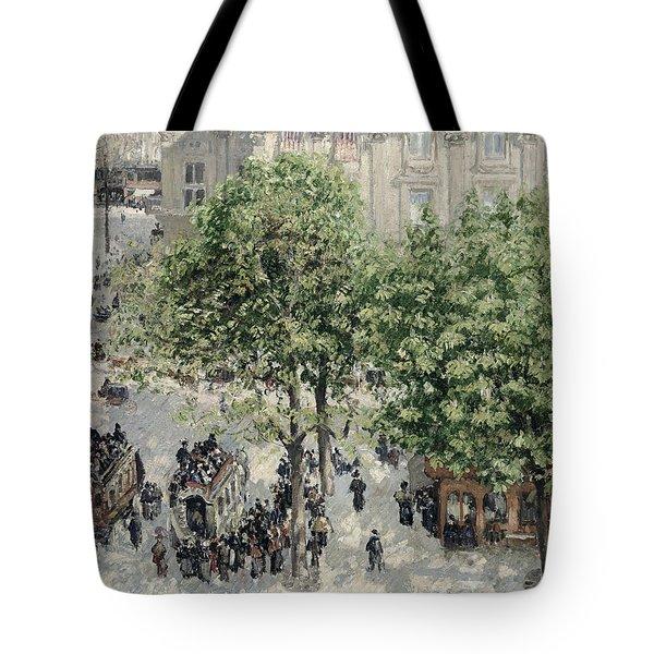 Place Du Theatre Francais Tote Bag by Camille Pissarro