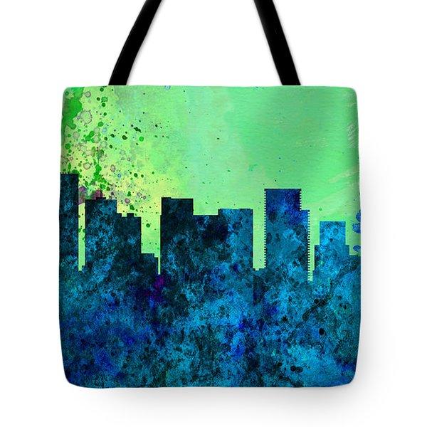 Portland City Skyline Tote Bag