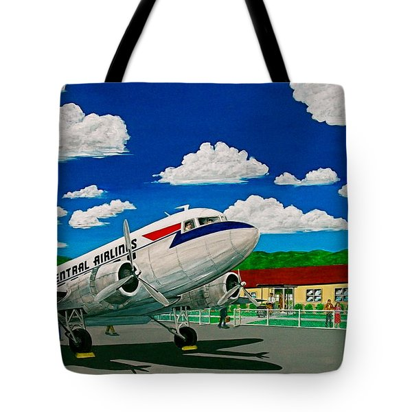 Portsmouth Ohio Airport And Lake Central Airlines Tote Bag by Frank Hunter