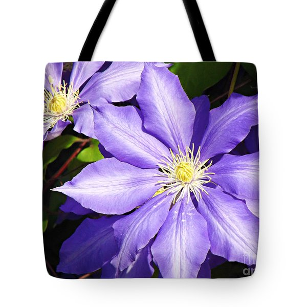 Pretty Purple Clematis Tote Bag