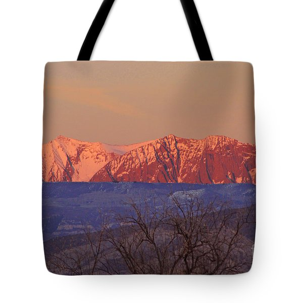 Radiant Ragged Mountain Evening Co II Tote Bag