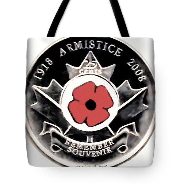 Remember Armistice Jour Du Souvenir  Tote Bag by Danielle  Parent