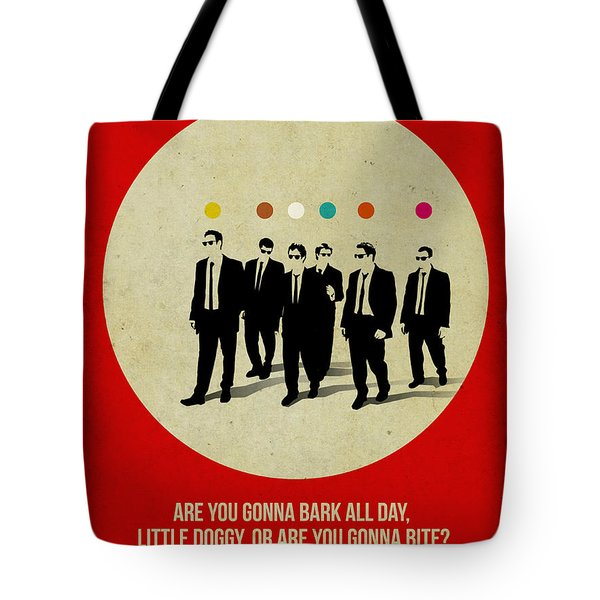 Reservoir Dogs Poster Tote Bag by Naxart Studio