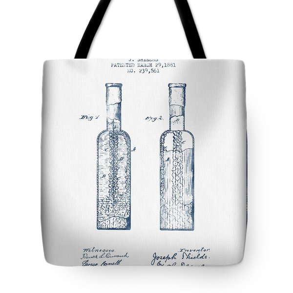 Rock Candy  Patent Drawing From 1881 - Blue Ink Tote Bag