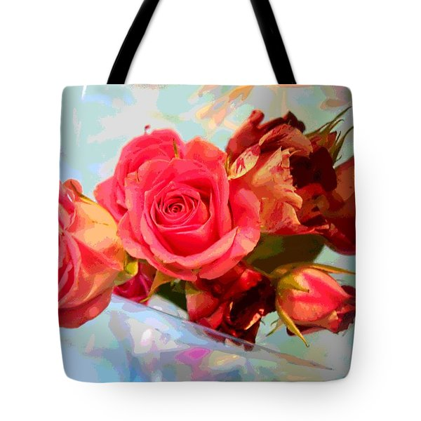 Roses 4 Lovers  Tote Bag by Rogerio Mariani
