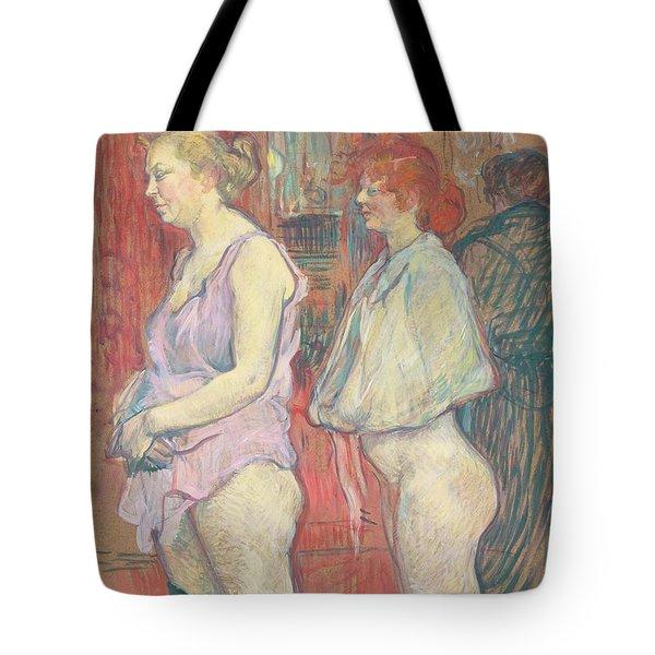 Rue Des Moulins Tote Bag by Henri de Toulouse-Lautrec