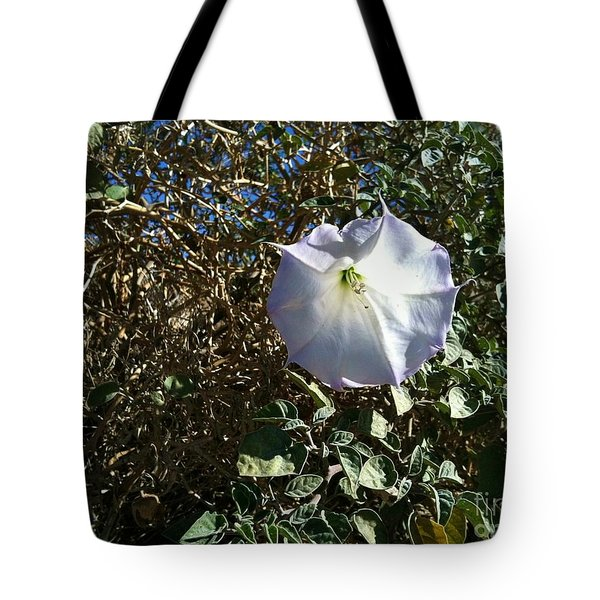 Tote Bag featuring the photograph  Sacred Datura by Angela J Wright