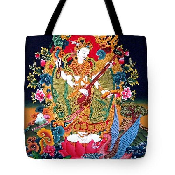 Saraswati 3 Tote Bag by Lanjee Chee