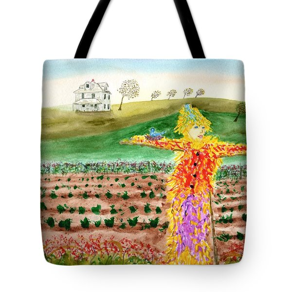 Scarecrow With Nesting Companion Tote Bag