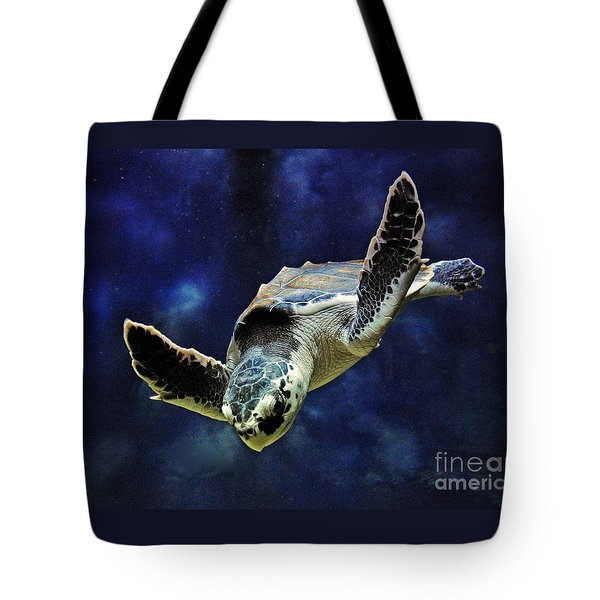 Tote Bag featuring the photograph  Sea Turtle by Savannah Gibbs