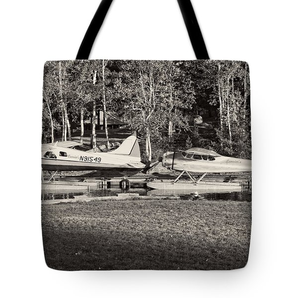 Seaplanes On Moosehead Lake In Maine Tote Bag
