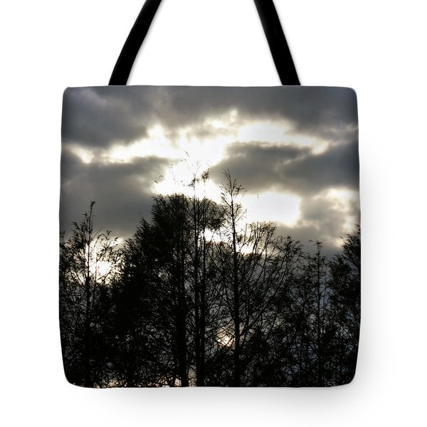 Silhouettes Toward Sunset Tote Bag