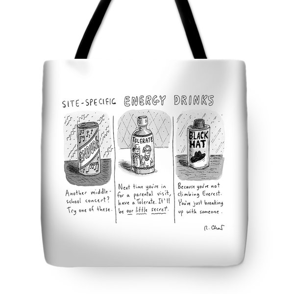 Site-specific Energy Drinks A Series Of Energy Tote Bag