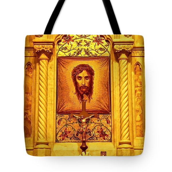 Tote Bag featuring the photograph  St. Patrick Nyc  Altar by Joan Reese