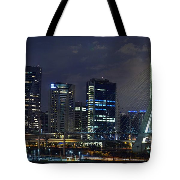 Supermoon In Sao Paulo - Brazil Skyline Tote Bag