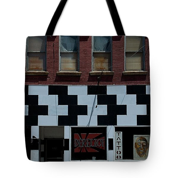 Tote Bag featuring the photograph  Tattoo Parlor Elmira by Steven Richman