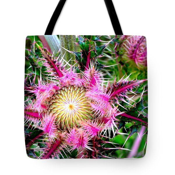 Tote Bag featuring the photograph  Texas Thistles by Antonia Citrino