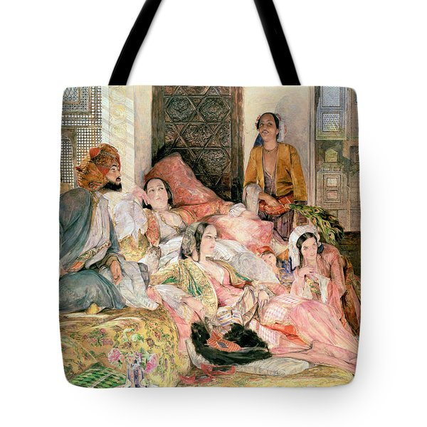The Harem Tote Bag by John Frederick Lewis