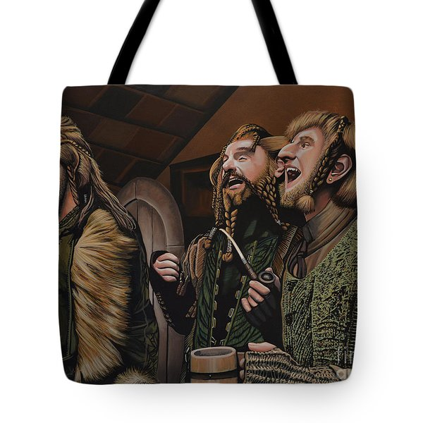 The Hobbit And The Dwarves Tote Bag