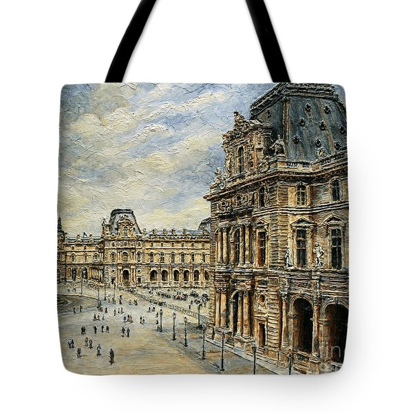 The Louvre Museum Tote Bag by Joey Agbayani