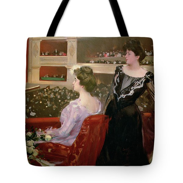 The Lyceum Tote Bag by Ramon Casas i Carbo