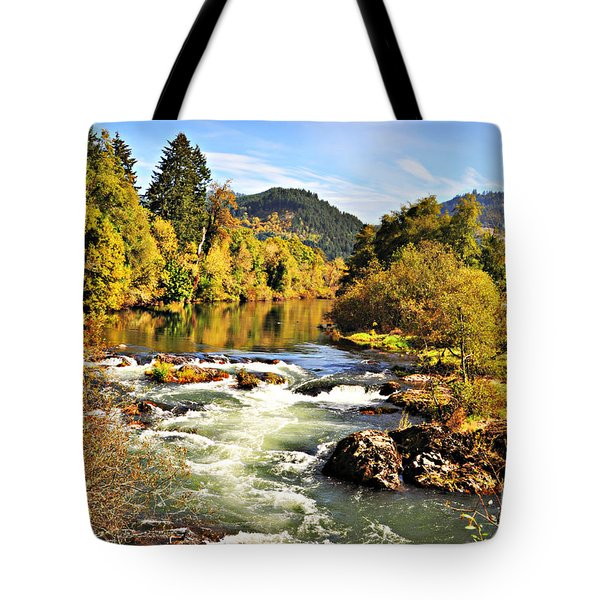 The Row River  Tote Bag