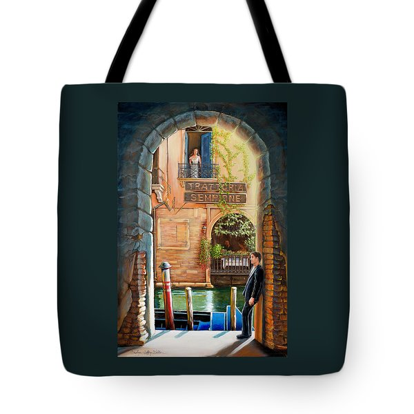 Thinking Of You Trattoria Sempione San Marco 578 Venezia Tote Bag