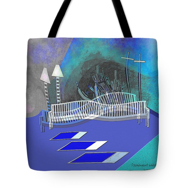 112 This Earthquake Feeling   Tote Bag by Irmgard Schoendorf Welch