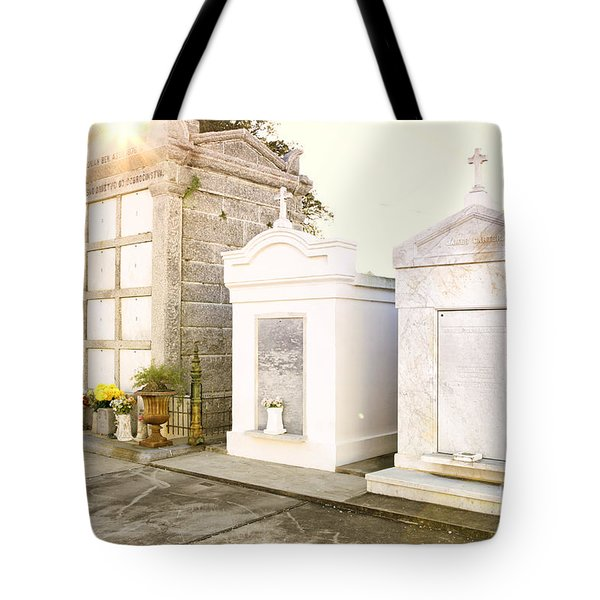 Tote Bag featuring the photograph   Tombstones  by Erika Weber
