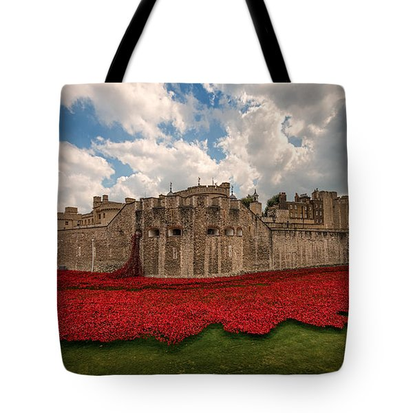 Tower Of London Remembers.  Tote Bag