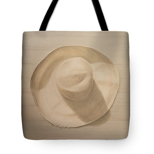 Travelling Hat On Dusty Table Tote Bag by Lincoln Seligman