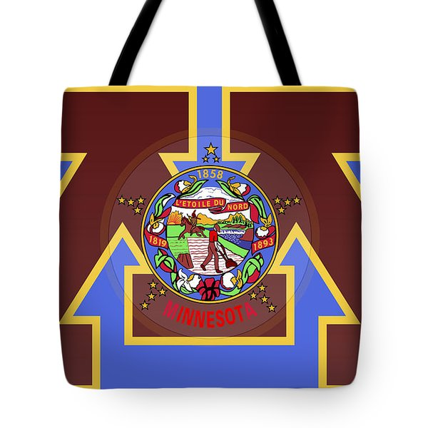 U Of M Minnesota State Flag Tote Bag