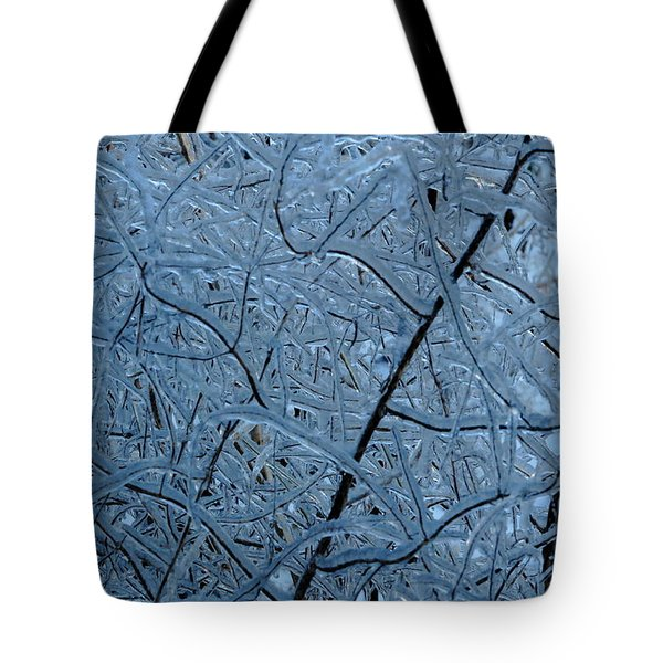 Vegetation After Ice Storm  Tote Bag