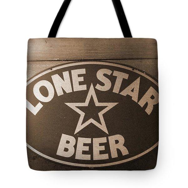 Vintage Sign Lone Star Beer Tote Bag