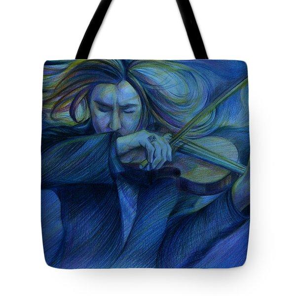 Virtuoso. David Garrett Tote Bag by Anna  Duyunova