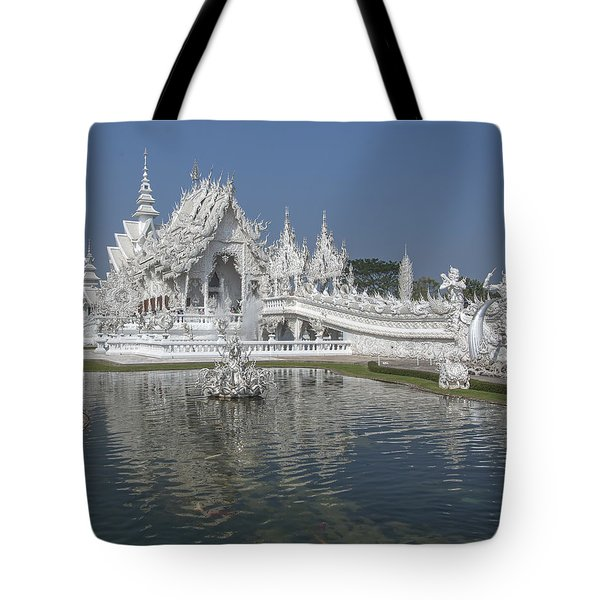 Wat Rong Khun Ubosot Dthcr0001 Tote Bag