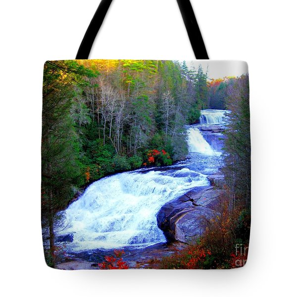 Waterfall At Dupont Forest Nc 2 Tote Bag by Annie Zeno