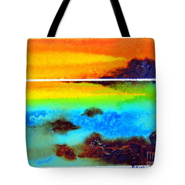 Tote Bag featuring the painting  Western Australia Ocean Sunset by Roberto Gagliardi