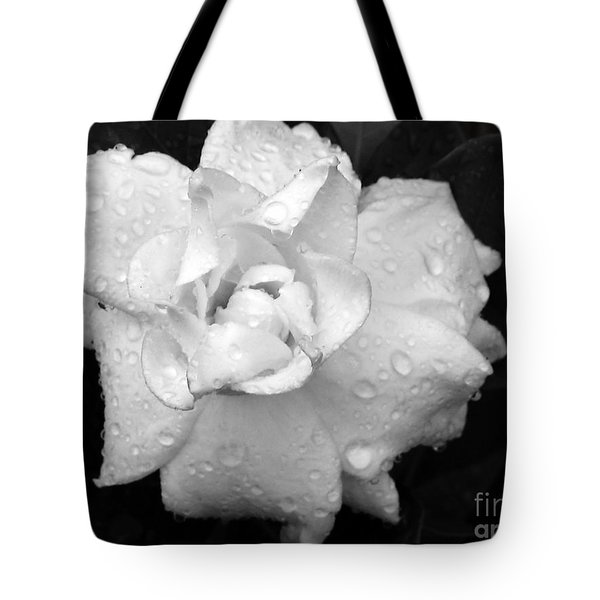 White Drops Tote Bag by Michelle Meenawong