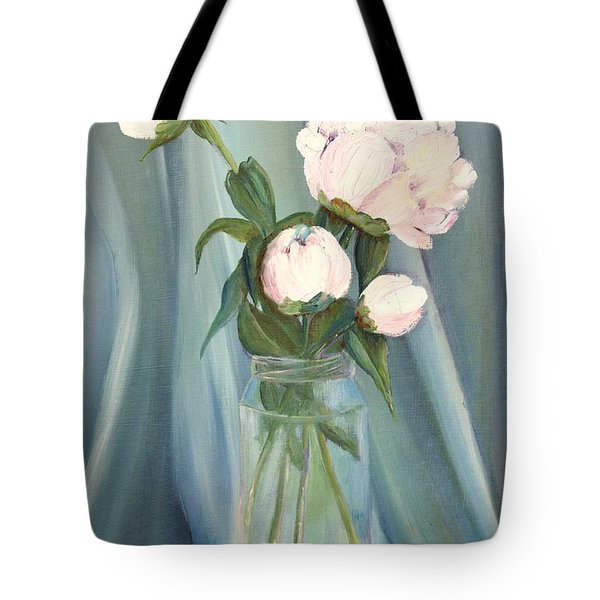 White Flower Purity Tote Bag